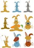 Coelhos dos desenhos animados ilustração do vetor