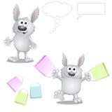 Coelhos engraçados dos desenhos animados Fotos de Stock Royalty Free