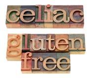 Coeliaque et gluten libérez Photo stock