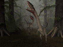 Coelophysis- 3D Dinosaur Royalty Free Stock Photo