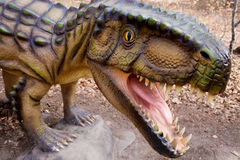 Coelurus - carnivorous killer from Jurassic period Royalty Free Stock Images