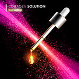 Coenzyme Q10 collagen serum essence drops Stock Photo