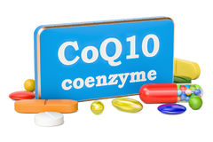 Coenzyme Q10 concept, 3D rendering isolated on white background Royalty Free Stock Image