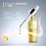 Coenzyme Q10 serum essence bottle Stock Photo