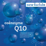 Coenzyme Q10. Transparent Bubbles on Blue Background. Royalty Free Stock Images