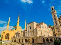 Coesistenza delle religioni nel Libano fotografie stock