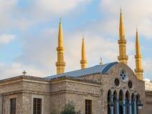 Coesistenza delle religioni nel Libano fotografie stock libere da diritti