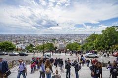 coeur巴黎sacre视图 免版税库存图片