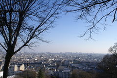 coeur巴黎sacre视图 库存照片