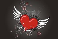 Coeur à ailes photographie stock libre de droits