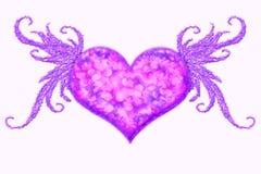 Coeur à ailes Images libres de droits