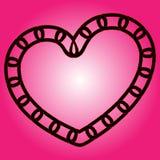 Coeur à chaînes Images stock