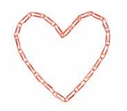 coeur à chaînes de forme Photos libres de droits