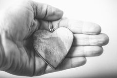 Coeur à disposition Images libres de droits