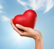 Coeur à disposition Photo stock