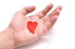 Coeur à disposition Photographie stock