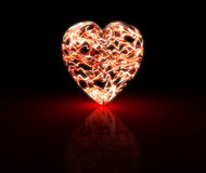 Coeur à haute tension Photos libres de droits