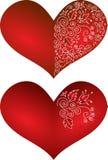 Coeur à jour rouge Photos stock