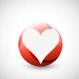 Coeur à l'intérieur d'une conception d'illustration de cercle illustration de vecteur