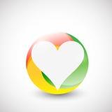Coeur à l'intérieur d'une conception d'illustration de cercle de couleur illustration libre de droits