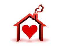 Coeur à l'intérieur dans la maison