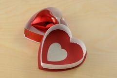 Coeur à l'intérieur de coeur Image stock