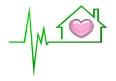Coeur à la maison Photos libres de droits