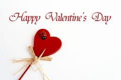 Coeur élégant avec l'oiseau de dame d'isolement pour la célébrité de jour du ` s de valentine Photos stock