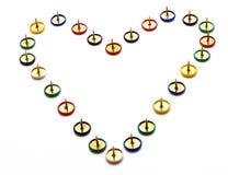 Coeur épineux Image libre de droits