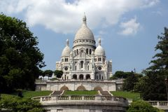 coeur Παρίσι βασιλικών sacre Στοκ φωτογραφία με δικαίωμα ελεύθερης χρήσης
