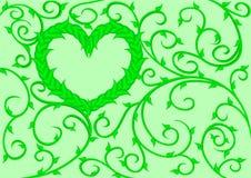 coeur 2 à feuilles caduques Photo stock