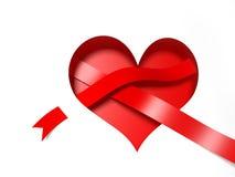 coeur 3d de papier Image libre de droits