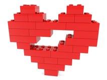 Coeur abstrait établi des briques de jouet illustration libre de droits