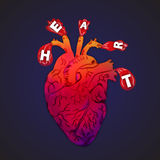 Coeur abstrait illustration stock