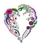 Coeur abstrait avec la fleur Photographie stock