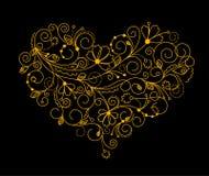 Coeur abstrait de fleur Photographie stock