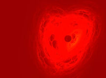 Coeur abstrait de fractale Photo libre de droits