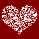 Coeur abstrait effectué à partir de petits coeurs illustration de vecteur