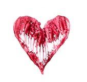 Coeur abstrait fait en symbole de concept d'aquarelle, d'amour et de santé Photos stock
