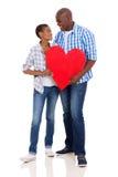 Coeur africain de couples Photo libre de droits