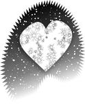 Coeur aigu de l'hiver de Noël Photographie stock libre de droits