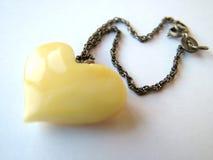 Coeur ambre 2 Photographie stock libre de droits