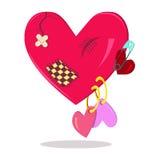 Coeur après des relations Photo stock