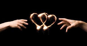 Coeur ardent Photos libres de droits