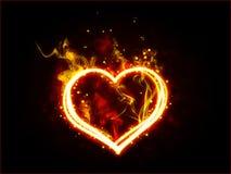 Coeur ardent Images libres de droits