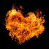 Coeur ardent Photographie stock libre de droits