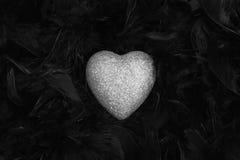 Coeur argenté Photo libre de droits