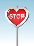 Coeur-arrêtez Image libre de droits
