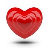 Coeur au coeur Photo stock