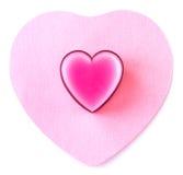 Coeur au coeur Image libre de droits